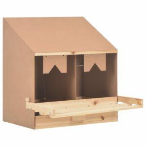 Legenest Hühnernest 2 Fächer 63 x 40 x 65 cm Massivholz Kiefer