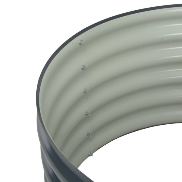 Garten-Hochbeet 80x80x44 cm Verzinkter Stahl Grau