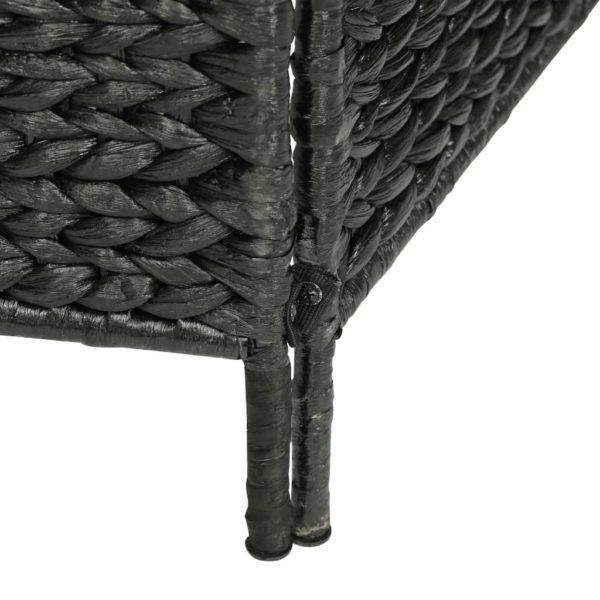 4-teiliger Paravent Schwarz 154×160 cm Wasserhyazinthe
