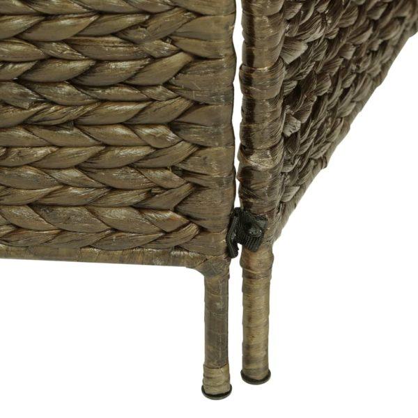 5-teiliger Paravent Braun 193×160 cm Wasserhyazinthe