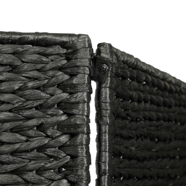 5-teiliger Paravent Schwarz 193×160 cm Wasserhyazinthe