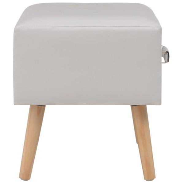 Nachttisch Weiß 40 x 35 x 40 Kunstleder