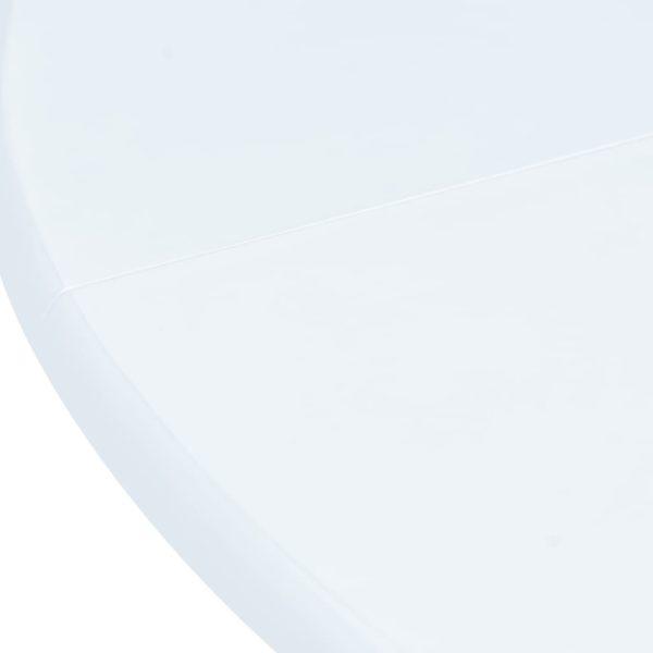 Esstisch Weiß 106 cm Gummiholz Massiv