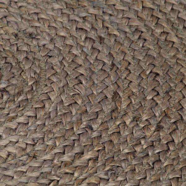 Teppich Handgefertigt Jute Rund 150 cm Grau