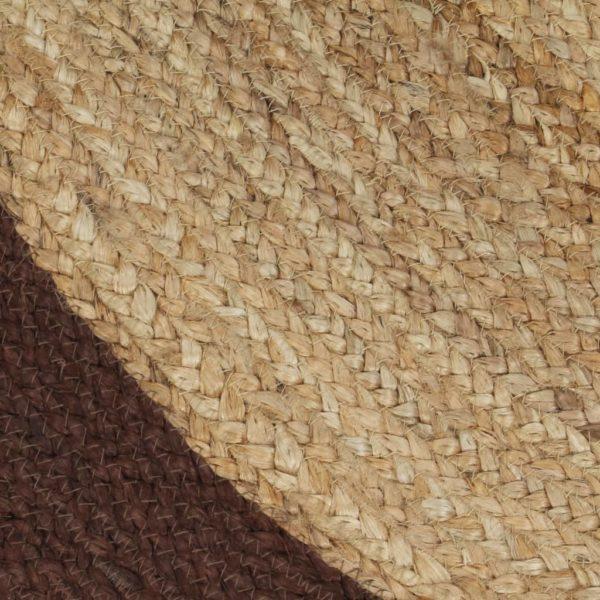 Teppich Handgefertigt Jute mit Braunem Rand 150 cm