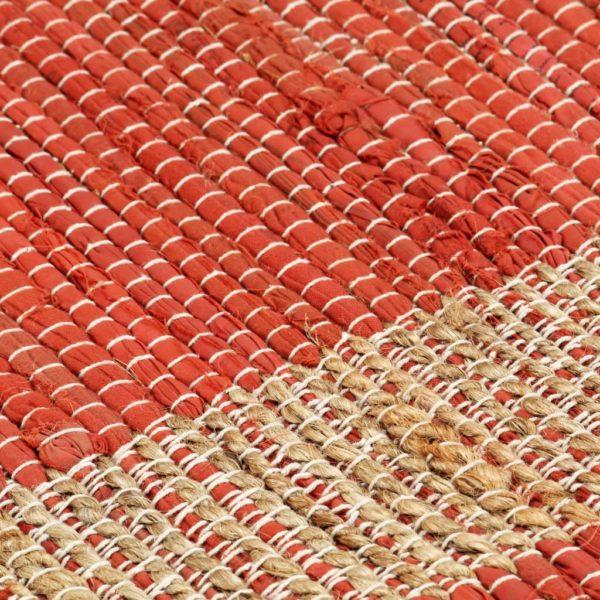 Teppich Handgefertigt Jute Rot 160×230 cm