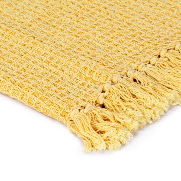Überwurf Baumwolle 160×210 cm Senfgelb