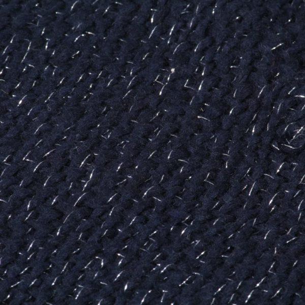 Überwurf Lurex 220×250 cm Marineblau