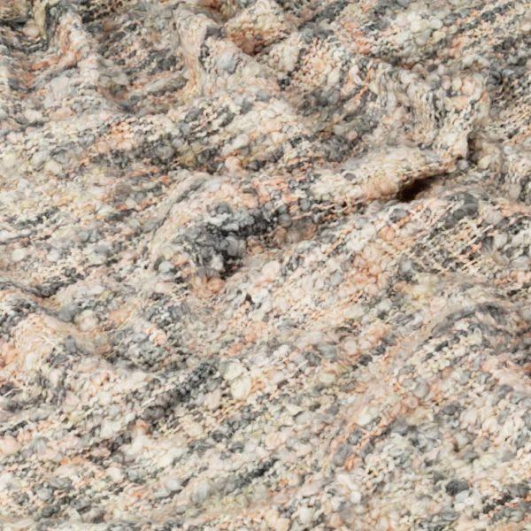 Überwurf 125×150 cm Rosa/Weiß/Grau