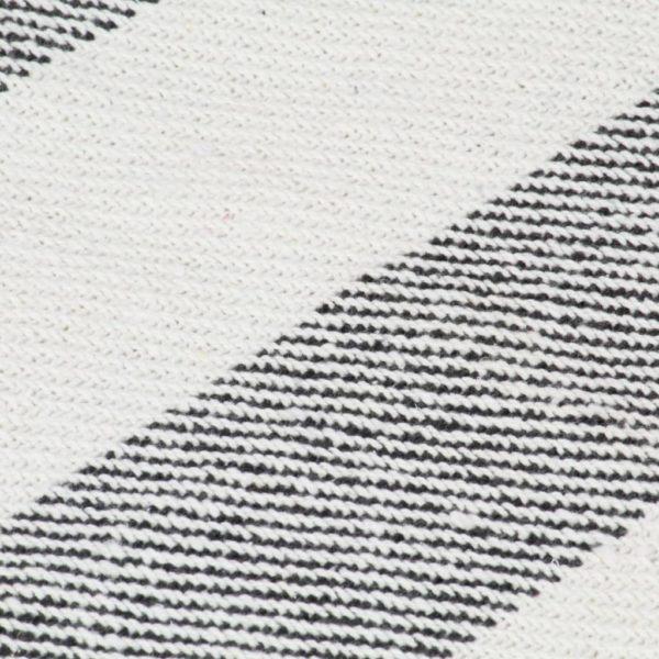 Überwurf Baumwolle Streifen 160×210 cm Anthrazit