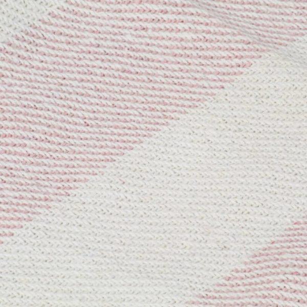 Überwurf Baumwolle Streifen 220×250 cm Altrosa