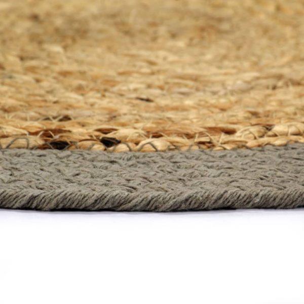 Tischsets 6 Stk. Natur und Grau 38 cm Jute und Baumwolle