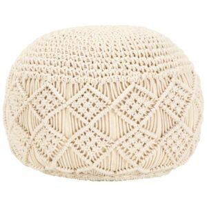 Makramee Sitzpuff Handgefertigt 45 x 30 cm Baumwolle