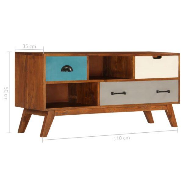 TV-Schrank mit 3 Schubladen 110 x 35 x 50 cm Akazienholz Massiv