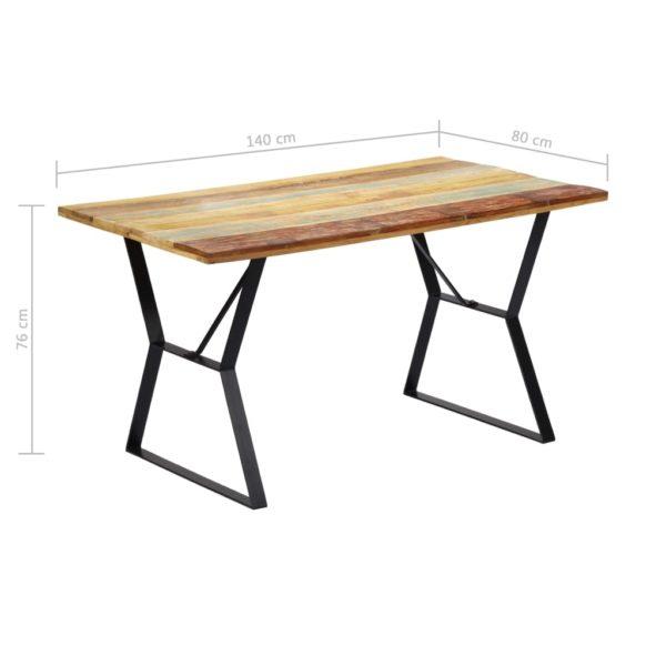 Esstisch 140 x 80 x 76 cm Recyceltes Massivholz