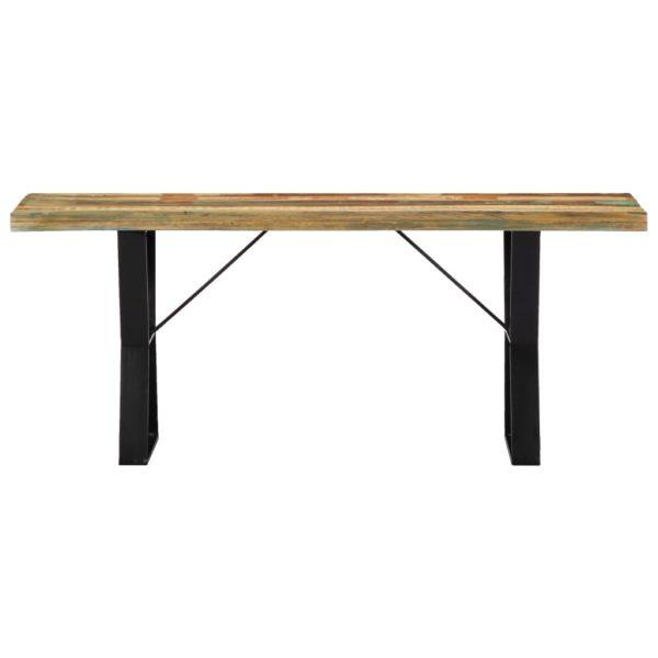 Sitzbank 110 cm Recyceltes Massivholz