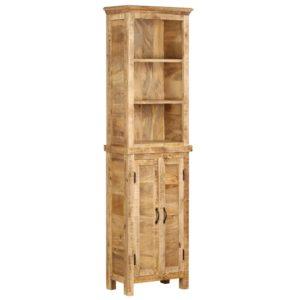 Bücherregal 50 x 30 x 180 cm Massivholz Mango
