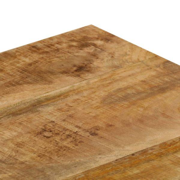 Couchtisch 110 x 50 x 35 cm Mango-Massivholz und Stahl