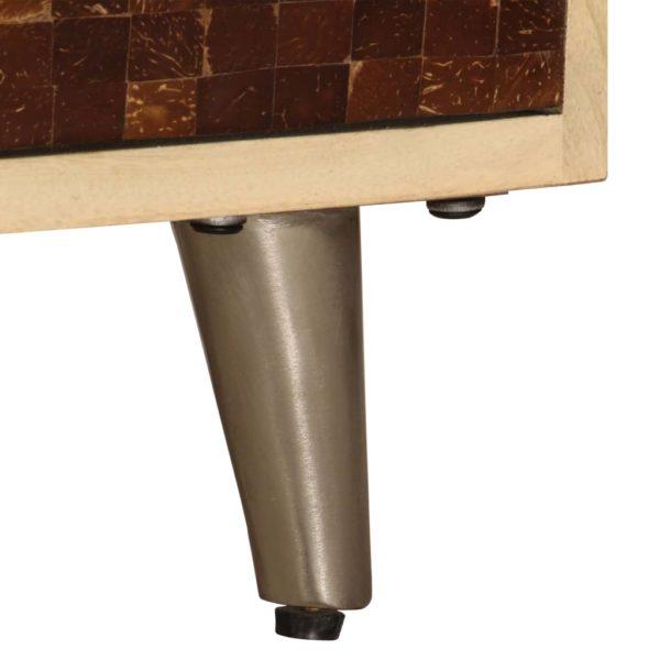 TV-Ablage 120 x 30 x 40 cm Massivholz Mango