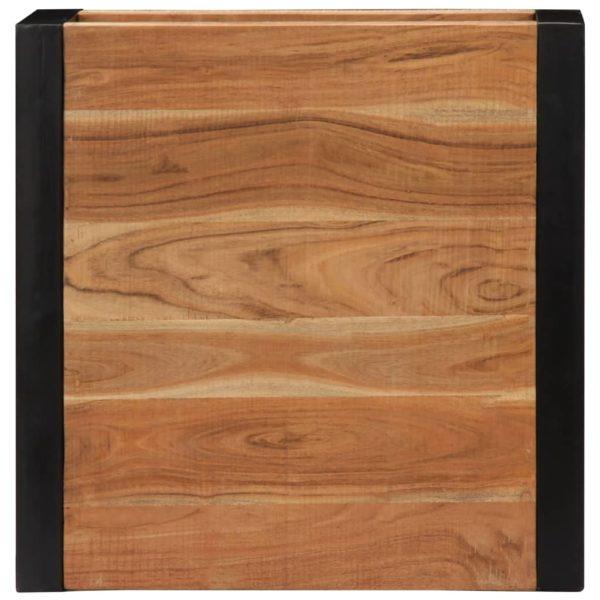 Couchtisch 60 x 60 x 40 cm Massivholz Akazie