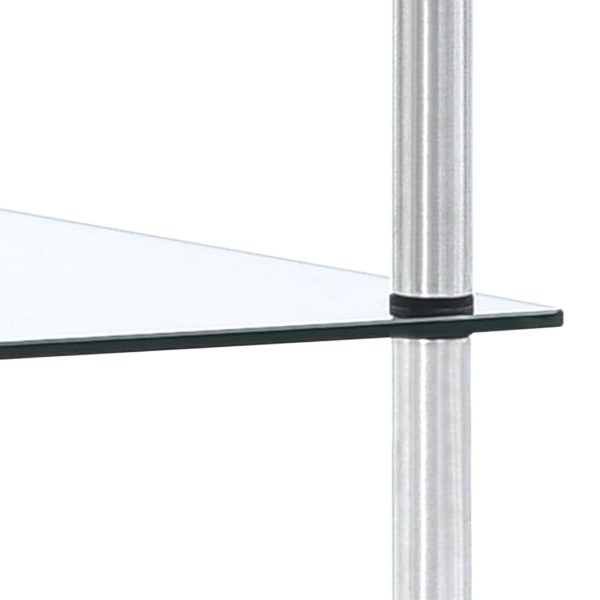 Regal mit 3 Ebenen Transparent 40 x 40 x 67 cm Hartglas