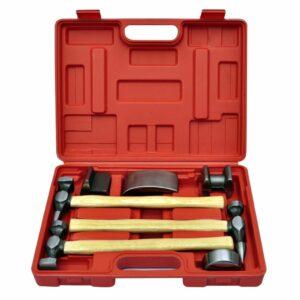 7-tlg. Karosserie-Ausbeulset Ausbeulhammer Dellen-Reparatur-Set