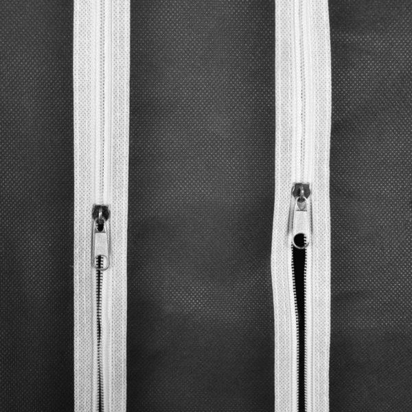 Stoffschrank mit Fächern Kleiderstangen 45×150×176 cm Schwarz