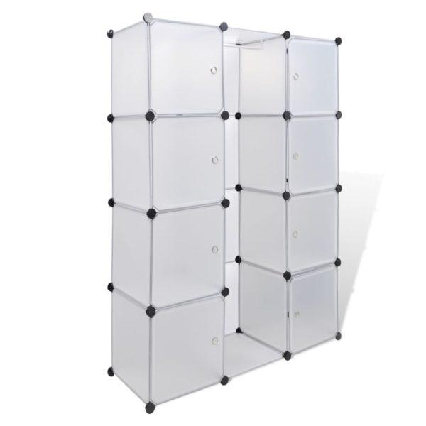 Modularer Schrank mit 9 Fächern 37×115×150 cm Weiß