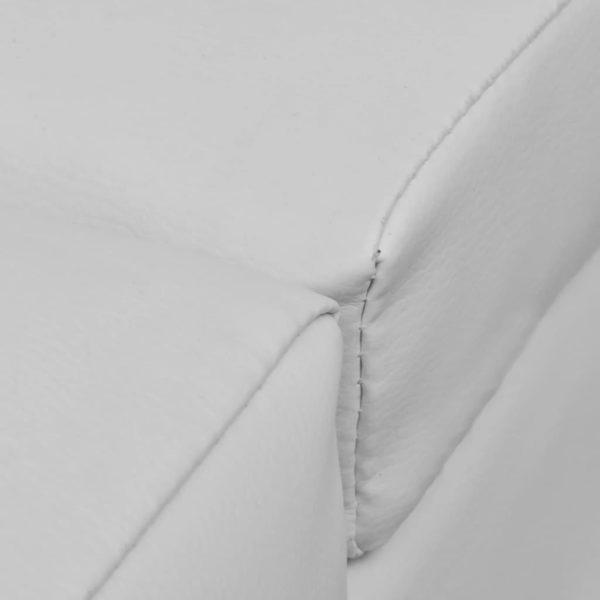 Chaiselongue Weiß Kunstleder