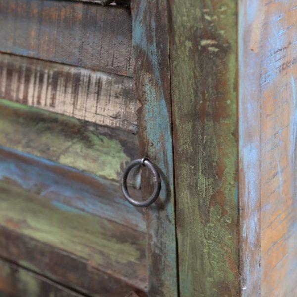 Nachtschrank mit 1 Schublade Recyceltes Holz
