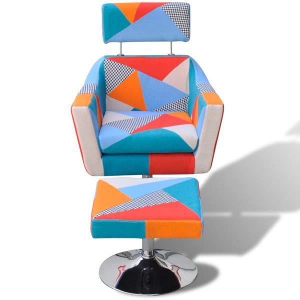 Fernsehsessel mit Patchwork-Design Stoff