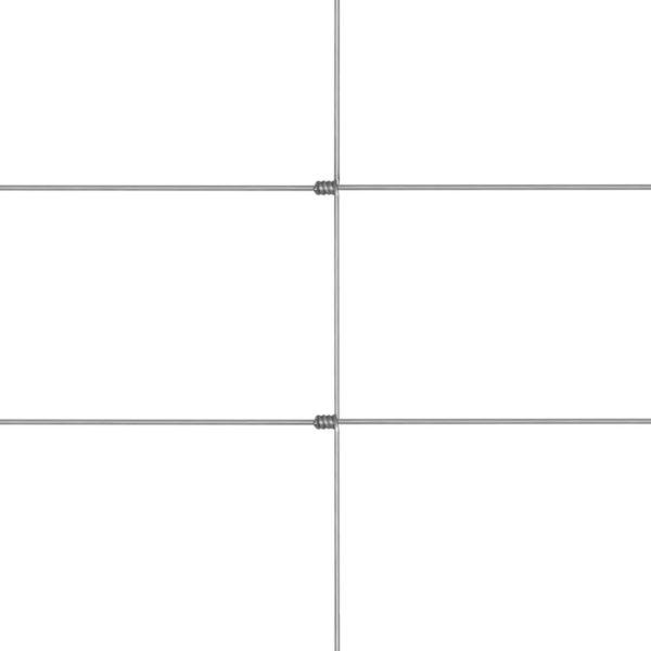 Gratenzaun Wildzaun mit Pfosten Verzinktes Eisen 50 m 80/6/30