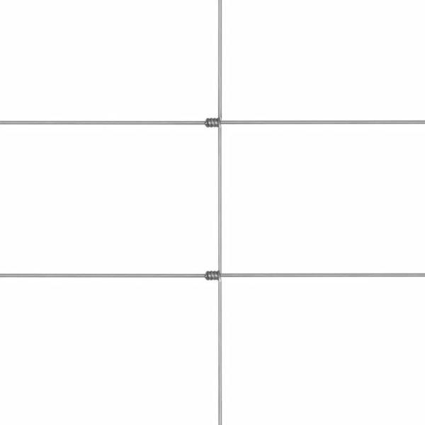 Gratenzaun Wildzaun mit Pfosten Verzinktes Eisen 50 m 80/6/15