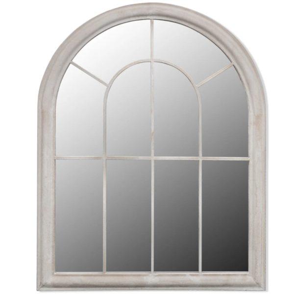 Rustikaler Gartenspiegel Bogen 69×89 cm für Indoor und Outdoor