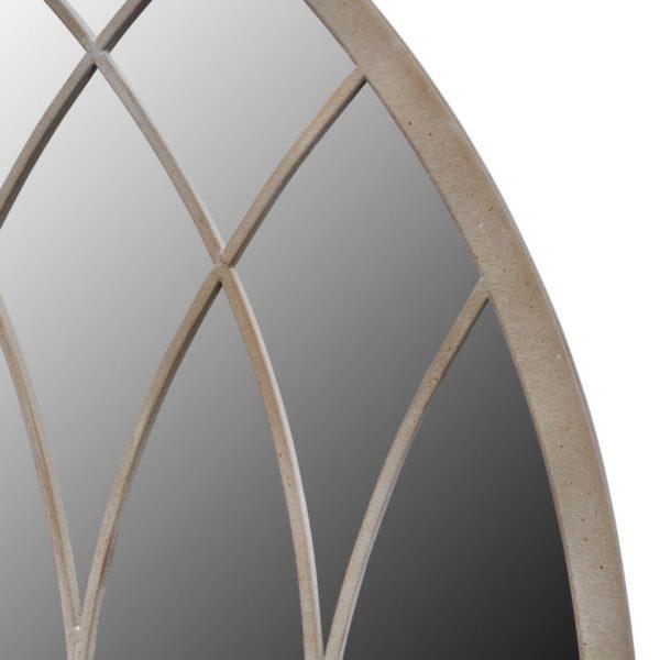 Rustikaler Gartenspiegel Bogen 50×115 cm für Indoor und Outdoor