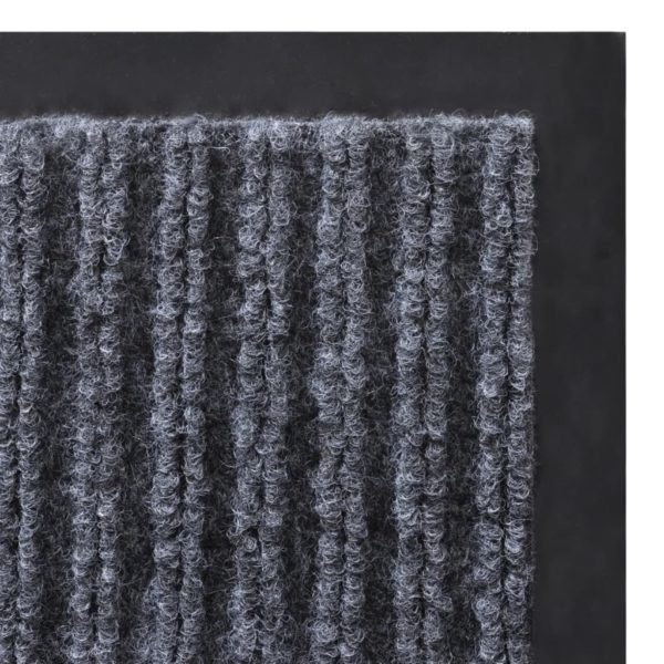 Graue PVC Türmatte 120 x 180 cm
