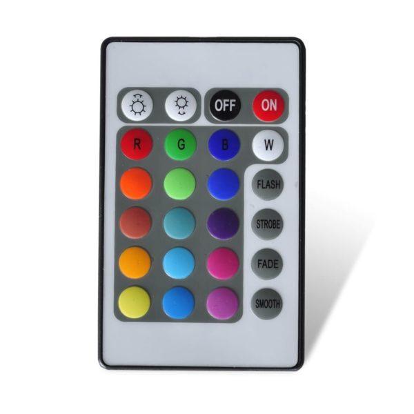 Bett + Memory-Schaum-Matratze LED Schwarz Kunstleder 180×200 cm