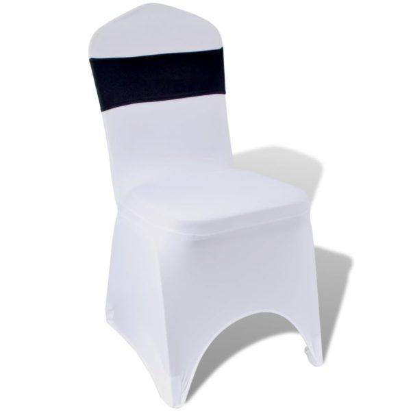 25 x Stuhlschleifen Stretch Schleifenbänder + Diamant Schnalle schwarz