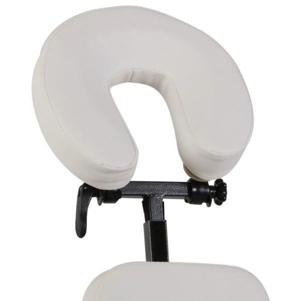 Massagestuhl, zusammenfaltbar und portabel Weiß