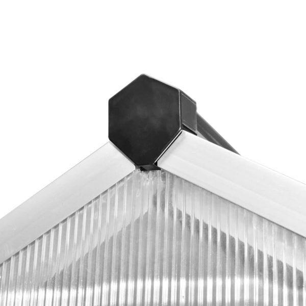 Verstärktes Gewächshaus Aluminium 6,05 m²