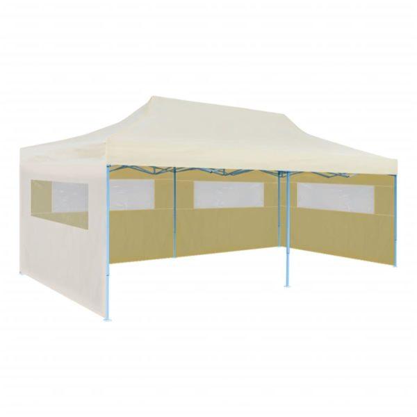 Pop-Up-Partyzelt Faltbar Creme 3×6 m