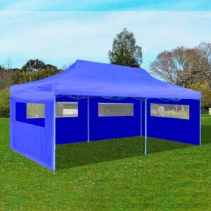 Pop-Up-Partyzelt Faltbar Blau 3×6 m