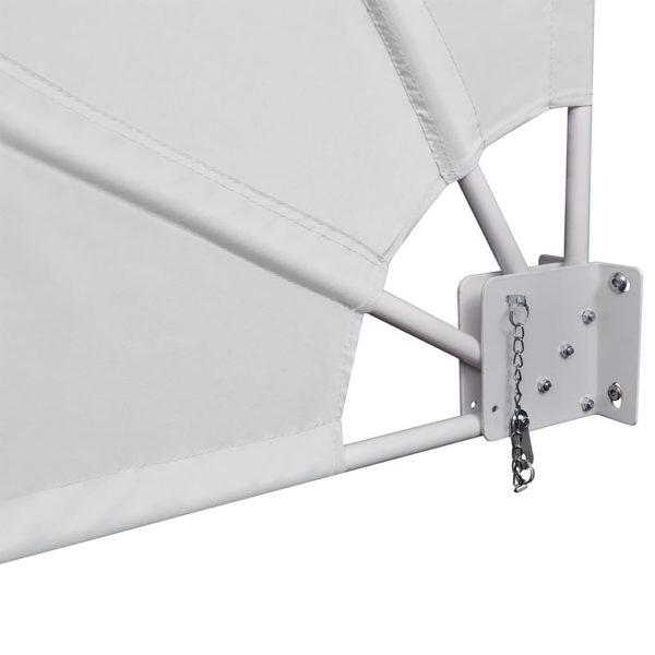 Faltbarer Balkonfächer Creme 160×240 cm