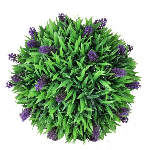 Buchsbaumkugel mit Lavendel 2 Stk. Künstlich 36 cm