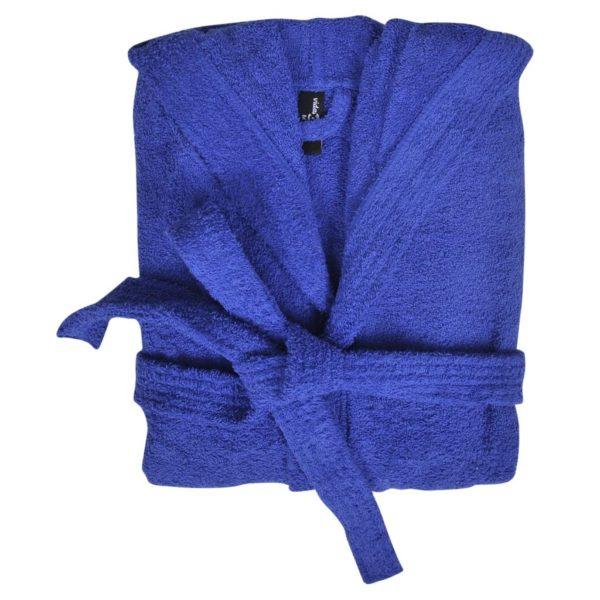 500 g/m² Unisex Frottee-Bademantel 100% Baumwolle Blau XL