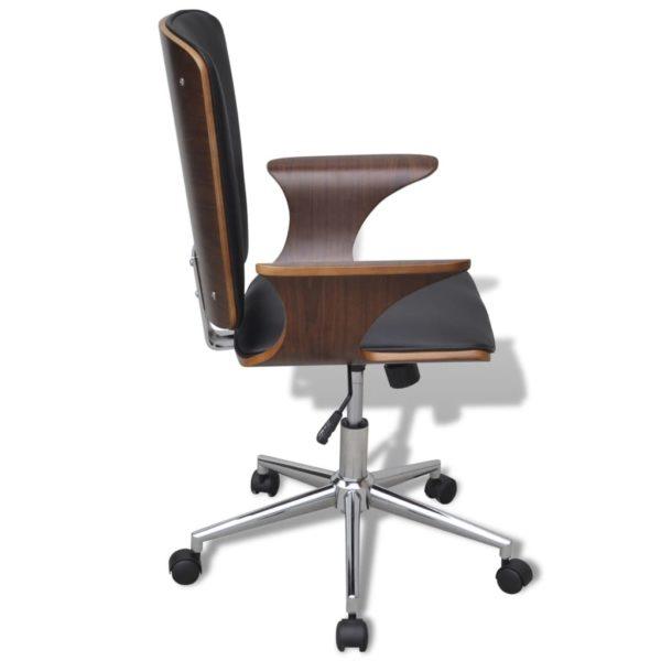 Büro-Drehstuhl Bugholz mit Kunstleder-Bezug