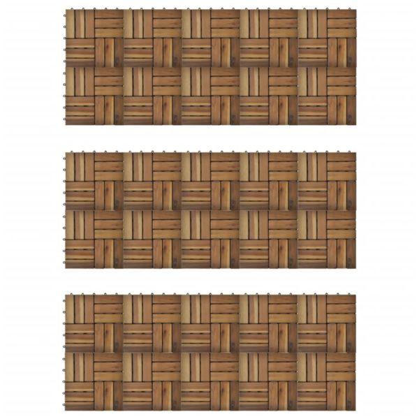 Terrassenfliesen 30er Set Akazie 30 x 30 cm