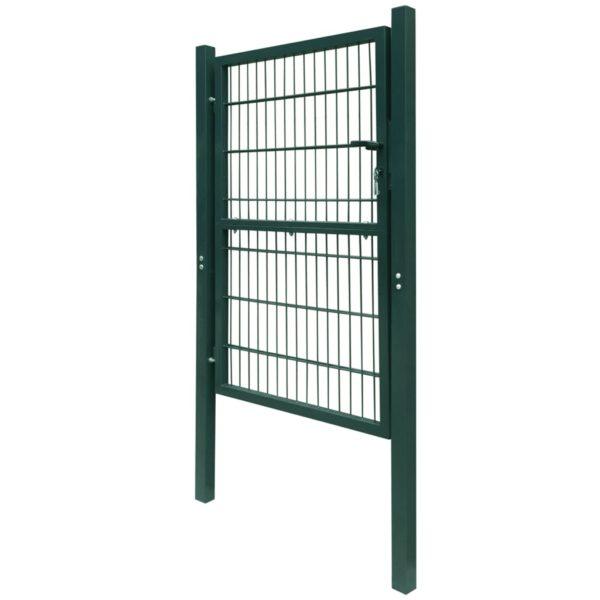 2D Zauntor (Einzeltor) grün 106 x 170 cm