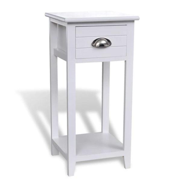 Nachttisch mit 1 Schublade Weiß