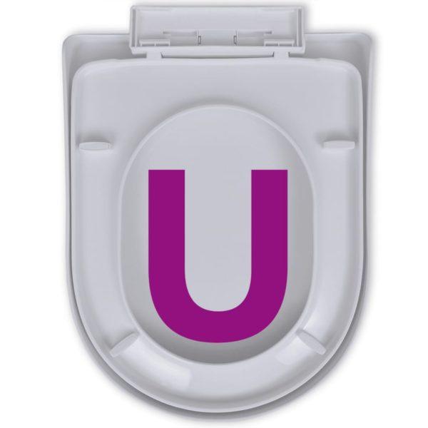 Toilettensitz mit Absenkautomatik Quadratisch Weiß